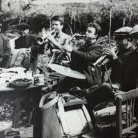 80li yıllardan düğün hatırası. Bateri Rafet Göncü, Kornet Ali Rıza Su, Saksafon Şengün Yantaki, Kornet Hasan.